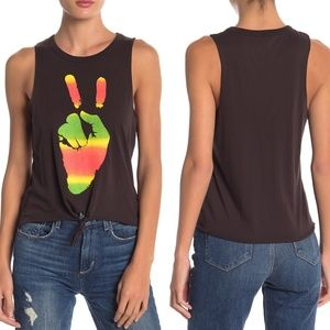 NWT Chaser peace sign tank top